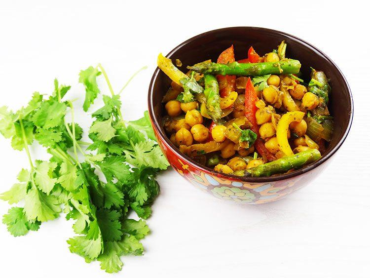 receta de garbarzos estilo hindu