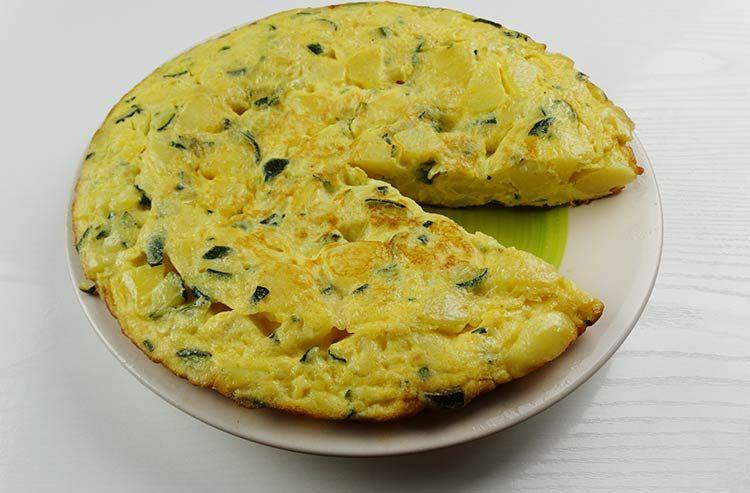 Tortilla de patatas baja en calorías