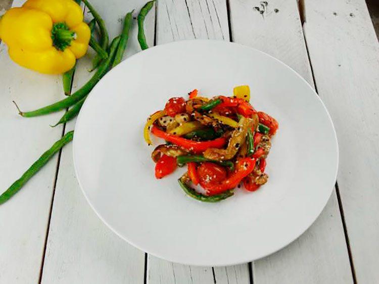 receta pollo con verduras