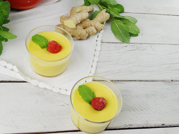 Mousse de mango y jengibre sin azúcar