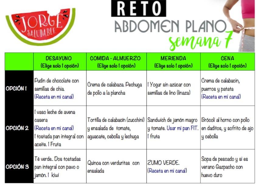 Reto Abdomen Planto Semana 7