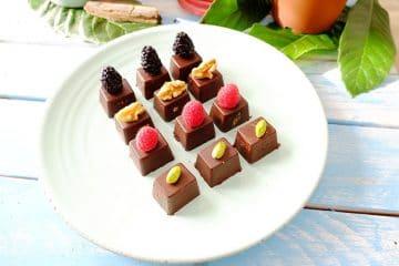 bombones de chocolate saludables y sin azúcar