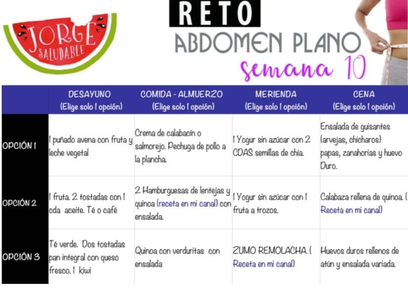 Reto abdomen Plano - Semana 10