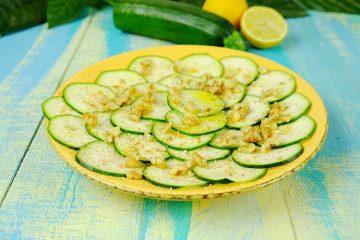Carpaccio de Calabacín, Zucchini o Zapallo italiano