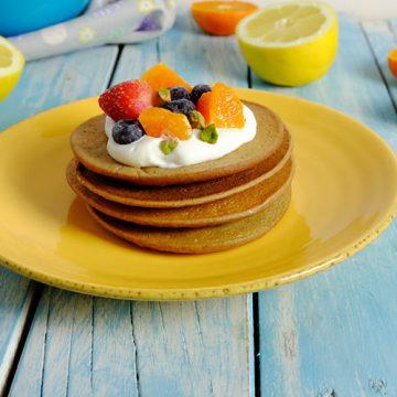 Pancakes de remolacha sin azúcar