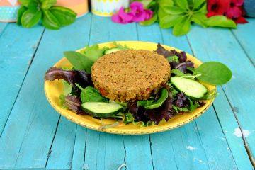 Hamburguesa Vegetariana de Quinoa, Avena y Lentejas